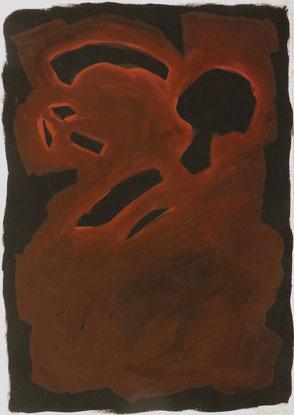 Erkenntnisfelder, 100/70 cm, Acrylfarben auf Papier,  1990