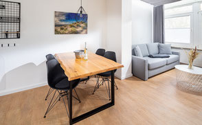 Strandloft 3 Norderney Wohnung 2 - Ess- und Wohnbereich