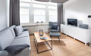 Strandloft 3 Norderney Wohnung 1 - Wohnbereich