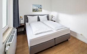Strandloft 3 Norderney Wohnung 1 - Schlafzimmer