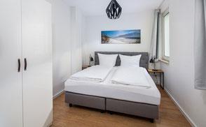 Strandloft 3 Norderney Wohnung 2 - EssbereichSchlafzimmer