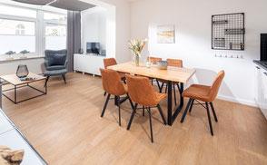 Strandloft 3 Norderney Wohnung 1 - Wohn- und Essbereich