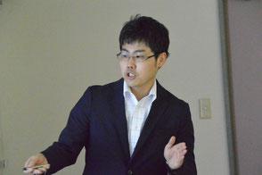 講演する寒地土木研究所の矢野さん