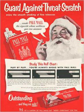 Pall Mall: le fuma anche babbo natale