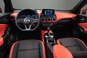 Intérieur Nissan JUKE 2019 N-DESIGN Orange Cuir / Tissu enduit