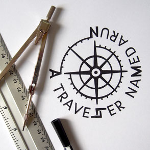 @atravellernamedarun - logo design