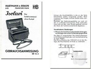 Bakelit HARTMANN & BRAUN  Isolationstester Isolavi ~1956...