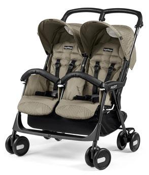 Kinderwagen Zwillingswagen Aria Shopper Twin Geo Beige