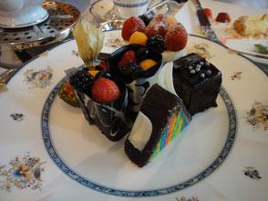 サービスで出してくれたケーキ