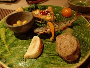 船山温泉 夕食 山梨 温泉 山の中の一軒宿 菜ちゃんのページ