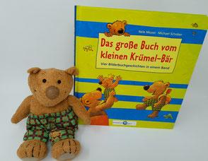 Stofftier, Krümel - Bär, Buch, vier Geschichten vom Krümel - Bär,