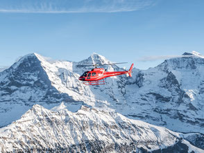 Helikopterflug Zentralschweiz, Helikopterrundflug, AS 350 B2 Ecureuil, HB-ZPF, Eiger, Mönch, Jungfrau