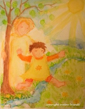 Engelbild für ein Baby