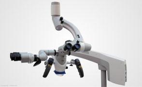 Op-Mikroskop mit starker Vergrößerung für bessere Sicht während der Behandlung