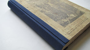Restoration book spine Conti Borbone