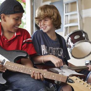 Bandtraining in der Musikschule Musikplanet in Lüneburg