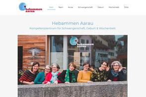 Hebammen Aarau, Kompetenzzentrum für Geburt, Wochenbett und Rückbildungskurse, Webseite erstellt von Webdesign Beer Aarau Küttigen