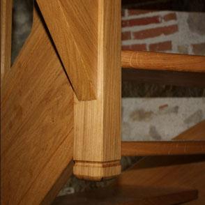 Support d'un escalier fabriqué et posé par les menuiseries Lethu