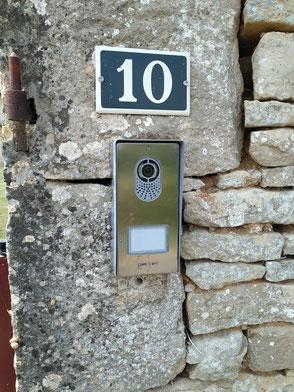 Platine de rue interphone vidéo CAME Placo