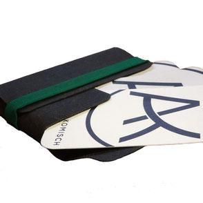 Visitenkartenetui - tiny wallet schwarz/grün