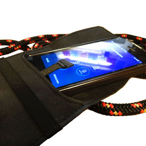 Handtasche schwarz Smartphonecase