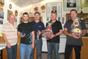 von links nach rechts: Oschm. Josef Kessler, Hannes Riedmann, Albert Müller, Hans Moschner, Alexander Bucher