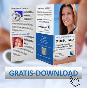 Zahnästhetik München: Klicken Sie hier, um die kostenlose Patienten-Information über Zahnfüllungen abzurufen!