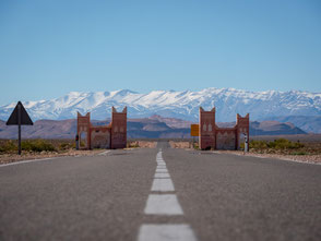 Marokko Atlas Gebirge Auto Mietwagen