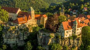 Schloss Burg Luftaufnahme Schlösserland Sachsen