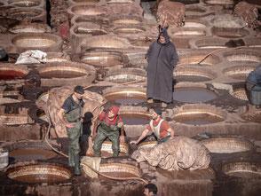 Fes Gerbereien Marokko