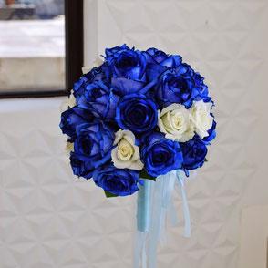 ウェディングブーケ カラー ブルー