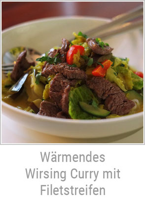 Kerstins Keto, Wirsing Curry mit Filetstreifen