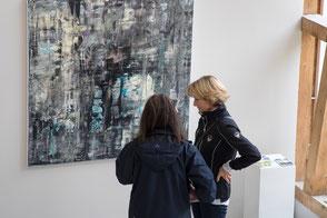 Sehenswert waren auch die Bilder von Sonja Kopp-Roth im Atelier Bolt