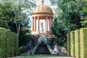 Hochzeitsfoto im Schlossgarten Schwetzingen