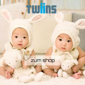 das Twiins Motiv Logo für Zwillinge Motive und alles was Spass macht