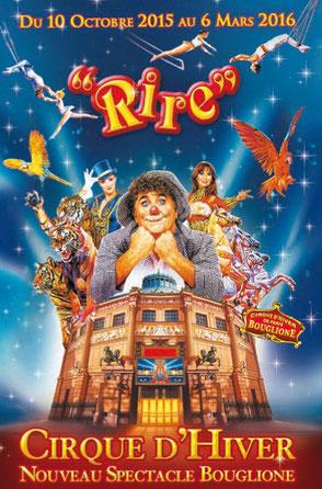 Cirque d'hiver bouglione nouveau spectacle 2015 2016