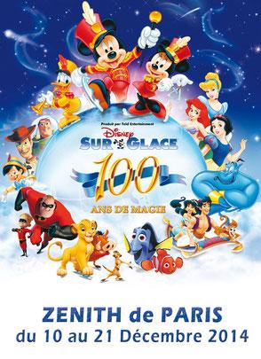 Disney sur glace 2014 au zénith de PARIS en décembre Spectacles de noël