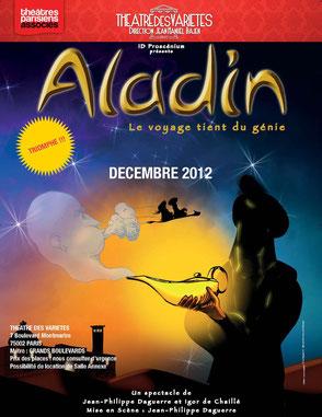 Aladin au théatre des Variétés 2012 spectacles de noel
