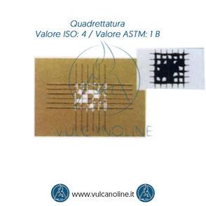 Prova di quadrettatura - Valore ISO 4 - Valore ASTM 1 B
