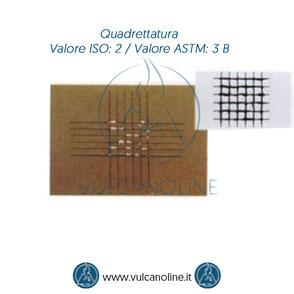Prova di quadrettatura - Valore ISO 2 - Valore ASTM 3 B