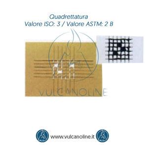 Prova di quadrettatura - Valore ISO 3 - Valore ASTM 2 B