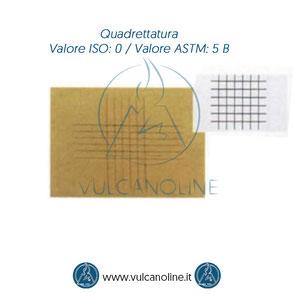 Prova di quadrettatura - Valore ISO 0 - Valore ASTM 5 B