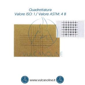 Prova di quadrettatura - Valore ISO 1 - Valore ASTM 4 B