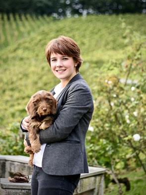 Annemieke Strecker mit Rosl (Dornröschen von der Margaretenhöhe)