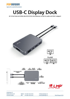 LMP USB-C Bildschirm Dock 4K 10 Port