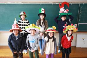 オムコレ2017帽子小学生集合写真