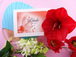 Coffret cadeau Hibiscus Coquelicot pâtisserie gourmand et original aux perles avec véritables éclats de fleurs