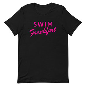T-Shirt Black Swim Frankfurt pink