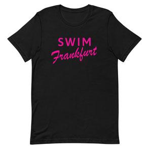 T-Shirt Black Swim Frankfurt pink