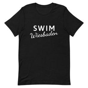 T-Shirt schwarz Swim Wiesbaden pink